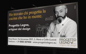 poster 6x3 chef progetto legno