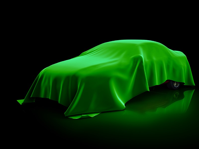 3d,Illustration,Of,The,Car,Covered,Fabric.